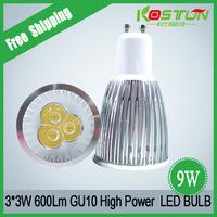 Quality Guaranteed Gu10 3*3w led bulb warm white 9w high power led lamp 4pcs/lot
