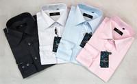 Free Shipping! Luxury Brand But Cheap Mens Long Sleeve Slim Fit Dress Shirt Size S-4XL
