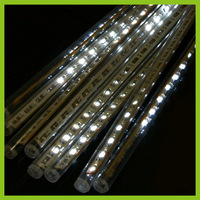 8x 30 LED Meteor Shower Rain Tube Light White Outdoor Tree Decoration 220v EU Plug Free Shipping