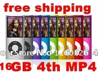 New 50pcs 4th Gen MP3 MP4 player 16GB 1.8 inch screen Ebook, voice recording, games DHL EMS free shipping