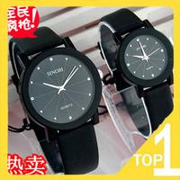 Dropship! Free shipping Wholesale fashion watches korean Couple Watches quartz/ leather Diamond belt fashion  watches  981