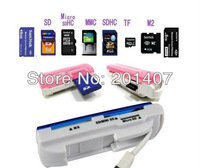 20pcs /lots TF-Card Memory card MMC SDHC M2 SD reader Multi- card reader