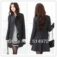 Best Selling!!Fashion women's wool double-breasted wool coat ladies jackets+ free shipping