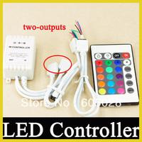 2 outputs 24 Key IR Remote Controller For RGB 5050 3528 LED Light Strip
