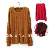 Best Selling!! Women Vintage knitting sweater warm retro outwear fashion knit top + free shipping