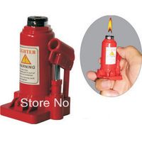 Cool Lifting Jack Style Refillable Butane Cigarette Lighter Flame Torch Red