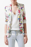 Best Selling!!New long sleeve women slim brazer jacket women's suit printed Jacket+ free shipping