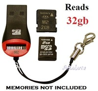 10x USB card readers memory stick micro sd TF M2 reads 2gb 4gb 8gb 16gb 32gb key holder wholesale LOT