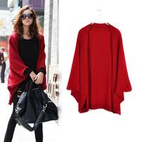 FS29 Autumn&Winter Long Design Cardigan Cape Sweater Female Free Shipping