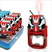 5pcs/lot Creative Peking Opera Style of Makeup Bottle Opener Refillable Cigarette Lighter