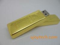 Gold bar USB Flash Drive Real 1GB 2GB 4GB 8GB 16GB 32GB 64GB OEM metal USB flash stick Christmas Gift pen drive free shipping