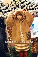Best Selling!!Women cartoon hoodies zipper jacket winter outwear+free shipping