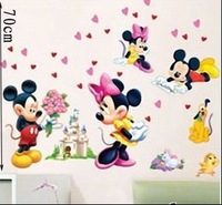 Second generation MICKEY MOUSE cartoon wall stickers child real decoration baby sticker FREE SHIPPING