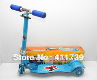 Free shipping 2012 lastest plastic children toys three wheels scooter toy for children to playing