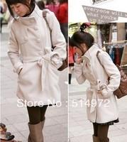 Best Selling!! women's winter Coat woolen Jacket winter warm clothing outwear+free shipping