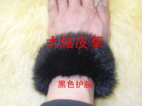 Rabbit fur wrist support ring pops fur wrist support rabbit fur cuff