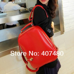 wholesale free shipping sweet fashion backpack Tote handbag shoulder bag for laptop IPAD Lady girl's student school popular(China (Mainland))
