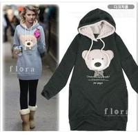free shipping 1 pcs panda bear hot selling women's clothing girls's doodies & sweatshirts dress sweater Jacket can choose colors