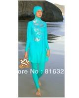 Free shipping female Sun protection clothing submersible clothing sunscreen Muslim swimwear