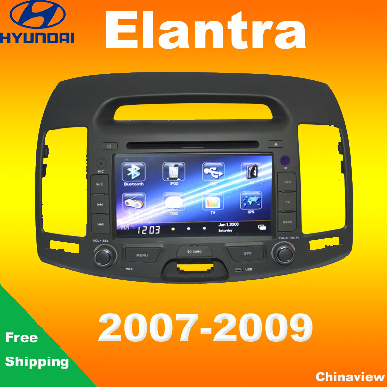 Special car DVD for Hyundai Elantra 2007-2009 with air condition control holes GPS navigation Bluetooth DVD Camera(China (Mainland))