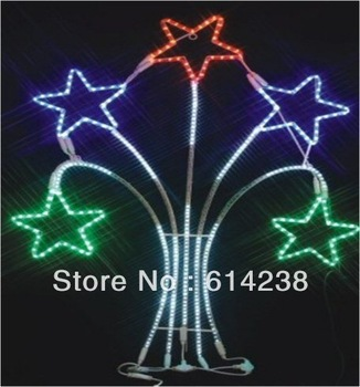 LED Motif lights with star  LED Christmas Lights manufacturer Decoration Light for Christmas Party Wedding CE ROHS