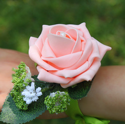 SWEETDAY Artificial flower silk hand flower the bride wrist flower accessories(China (Mainland))