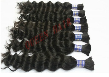 Queen hair:Cheap Brazilian Virgin hair bulk 8 inch to16 inch , Natural Black wholesale hair 8pcs/lot Top Quality