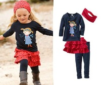Hot sell Free Shipping girl child children's clothing long-sleeve casual suit