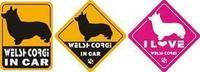 Fashion pet dog car stickers emblem corgi 22
