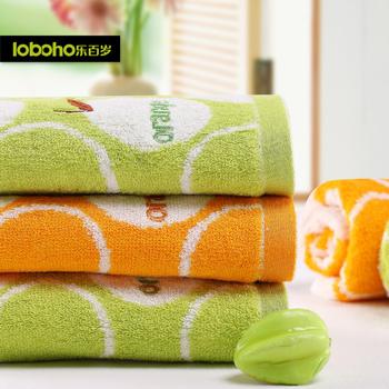 Centenarian fruit pattern bamboo fibre towel bulkness soft natural towel