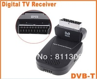 free shipping Digital Terrestrial Receiver Mini USB Scart TV PVR DVB-T HDTV Tuner EPG MPEG2