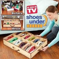Free shipping,Large transparent organizer water sports non-woven storage box/ shoe box As see on TV storage case tin