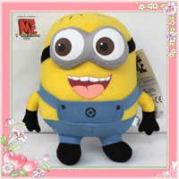 Children's plush toys Despicable Me Minion 3D Eye Plush Toy Stuffed Animal Doll 22CM Jorge Teddy hot!!