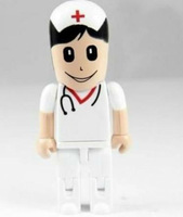 4-32 GB New doctor White cartoon model usb 2.0 memory stick flash pen drive U33