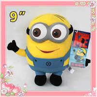 Children's plush toys Despicable Me Minion 3D Eye Plush Toy Stuffed Animal Doll 22CM Dave Teddy hot!!