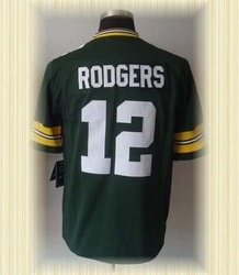 Arrived New Green Bay Football Jerseys 12 Aaron Rodgers Green White 2012 Game Jerseys(China (Mainland))