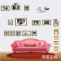 Sweet Memory Classic bed photos of wall sofa background stickers wall stickers