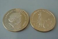 Free shipping (5pcs/lot) 2009 1 Oz Gold Replica .999 Australian Kangaroo Coin +airtight for free