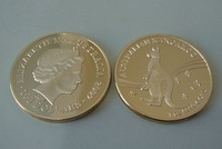 Free shipping (5pcs/lot) 2009 1 Oz Gold Replica .999 Australian Kangaroo Coin +airtight for free