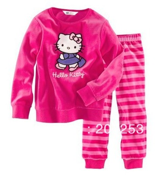 new,Free Shipping Latest Style 6 Sets/Lot Baby Kids Pajamas Gilrs Clothes Set Children Sleepwear 2-7 years baby set