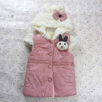 Free Shipping! Wholesale Baby wearing Winter High Quality Thicken Lamb Modeling Vest children's coat #NO12401