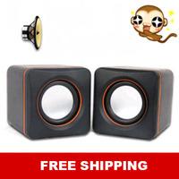 Free shipping New arrival portable computer speaker subwoofer multimedia mini USB speaker mini amplifier for MP3 MP4 tablet PC