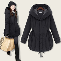[F-581] Free Shipping Winter coat new thickened cotton girls long coat warm cotton-padded jacket