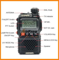 New 2012 Baofeng UV-3R Plus Dualband two way radio 136-174/400-470mHZ walkie talkie with free earpiece