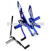 Adjustable Rearsets For  YZF-R1 09 10 11 12 2009 2010 2011 2012 CNC Billet Footpegs Foot Rear set BLUE