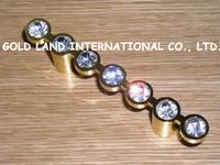 64mm Free shipping K9 crystal glass furniture handles drawer handles & cabinet handles