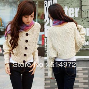 Best Selling!!Women's Fashion loose Batwing Sweater Dolman Knitting Coat Cardigan+free shipping