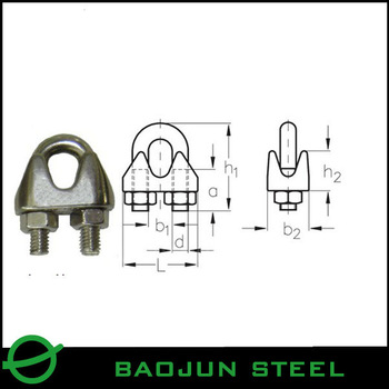 DIN 741 5mm Stainless Steel Wire Rope Clip