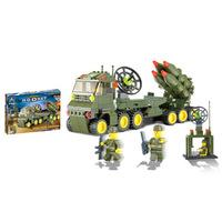 Holiday Sales Christmas Enlighten Child 6510 DIY toy Educational Rocket Car KAZI building block sets,children toys free Shipping