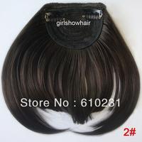 Fashion Hair bang,clip in hair bang,Neat hair bang,synthetic hair bang, Classical style hair fringe, color 2#